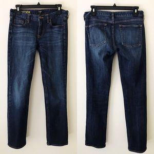 J CREW Matchstick Dark Wash Jeans